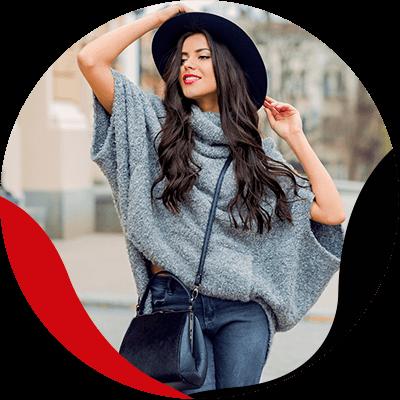 Fashion Trends - mujer con sombrero negro