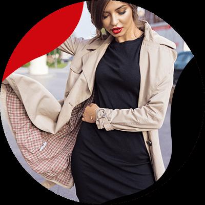 Fashion Trends - mujer de vestido negro con saco