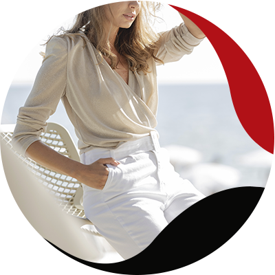 Fashion Trends- mujer con pantalón